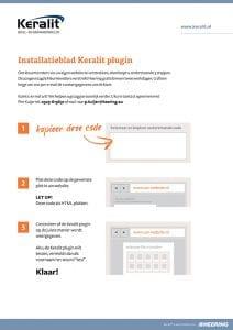 Keralit Installatieblad plugin