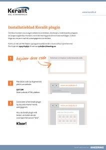 Instructies Keralit PlugIn